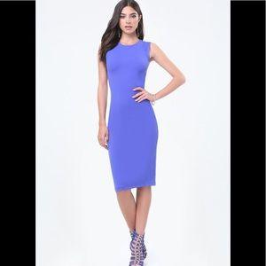 Sleevless Bodycon Dresses Royal Blue